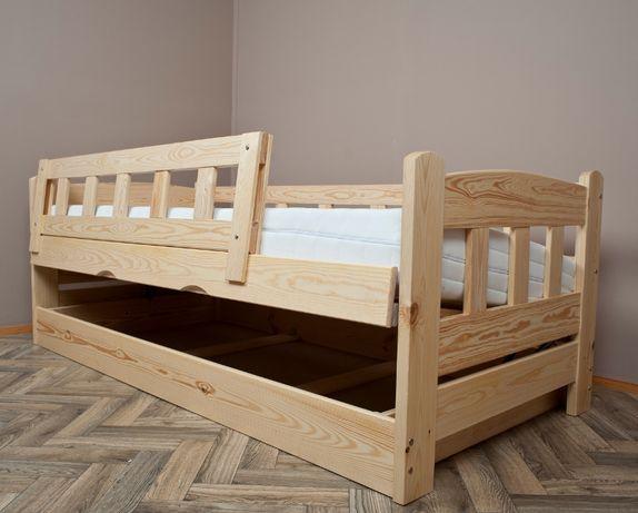 łóżko ze skrzynią podnoszone z boku sosnowe mocne BINGO 100x200