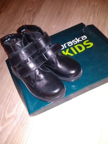 Сапоги ботинки кожаные зимние