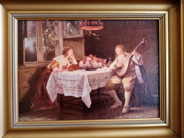 Старовинна картина F. M. BENNET (1922) печать