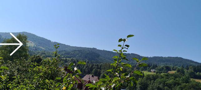 Widokowa działka -polana w koło las-cisza, przyroda -Korbielów-Pilsko