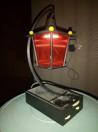 Ночник светильник СССР красный фонарик с радиоприемником