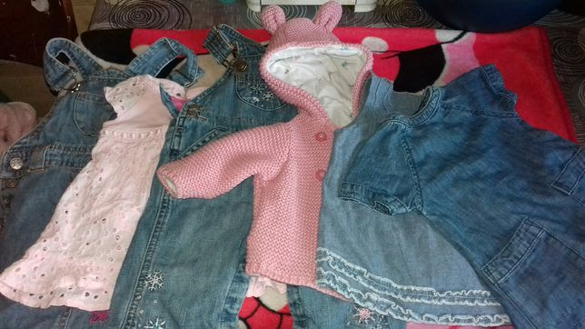 Детские вещи на девочку 0-6 месяцев