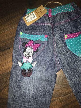 Летние детские лёгкие джинсы Дисней рост 100-110 см