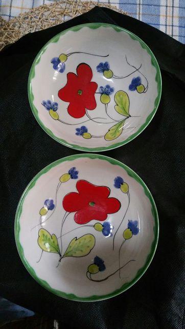 Macioli Made in Italy 2 malgas Antigas Pintadas á mão .
