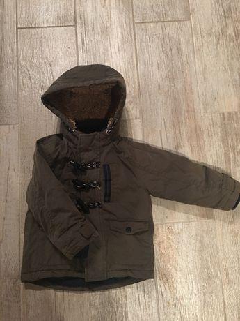 Śliczna zimowa kurtka khaki