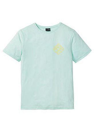 Мятная футболка с красивой спинкой