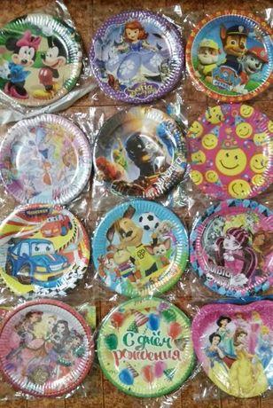 праздничная детская одноразовая посуда