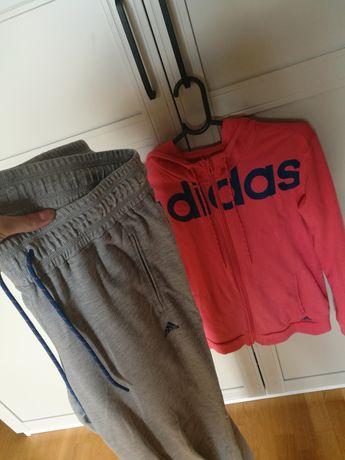 Adidas komplet bluza spodnie dresowe damskie XS/S stan idealny orygina