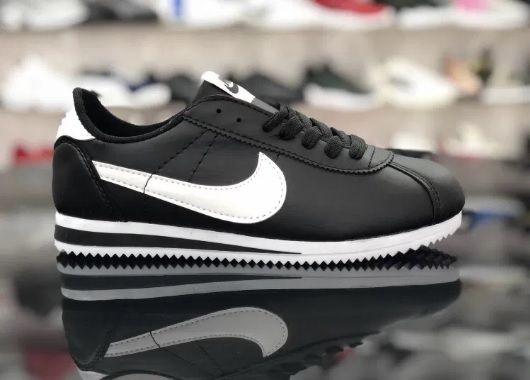 Nike Cortez/ Rozmiar 37 Czarne - Białe *DAMSKIE* PROMOCJA
