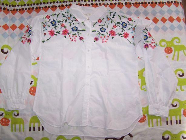 ZARA koszula kwiaty hafty 140cm śliczna !