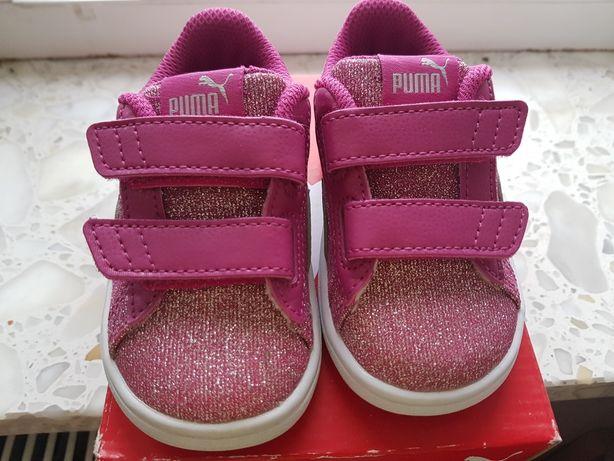Puma buciki buty sportowe różowe brokat przepiękne rozm 21 NOWE
