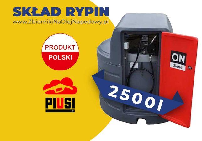 Skład Rypin - Zbiornik 2500L na olej napędowy, paliwo ON 2000L 3000L