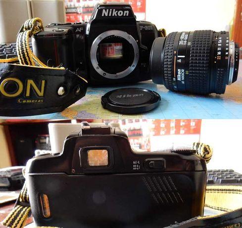 2 câmaras Nikon, Objectivas Nikon 35-80 e 75-300