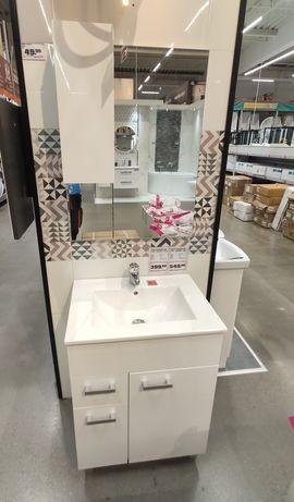 OBI Zestaw Completto szafka +umywalka +lustro 80cm 248zł obniżka z 549