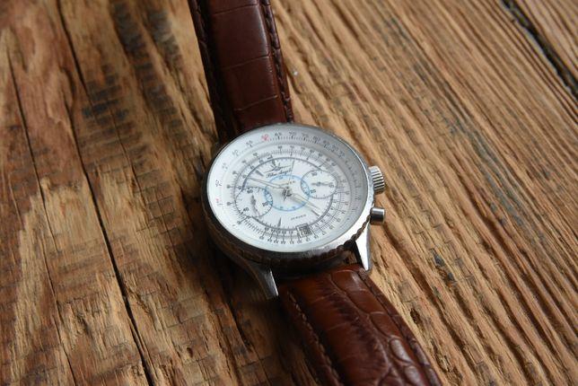 zegarek POLJOT CHRONOGRAPH BLUE ANGELS white poljot 3133 aviator