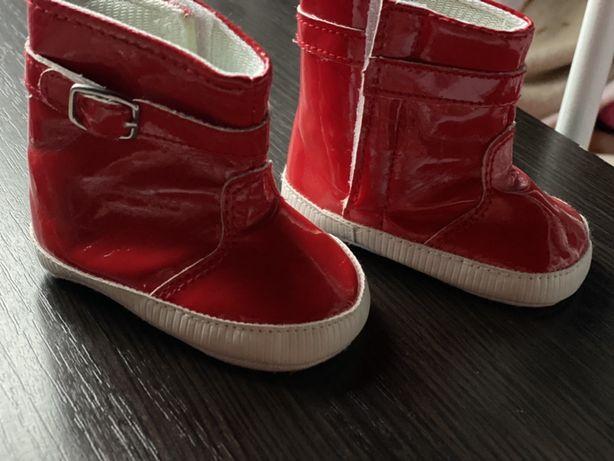 Осенние ботинки пинетки 10см