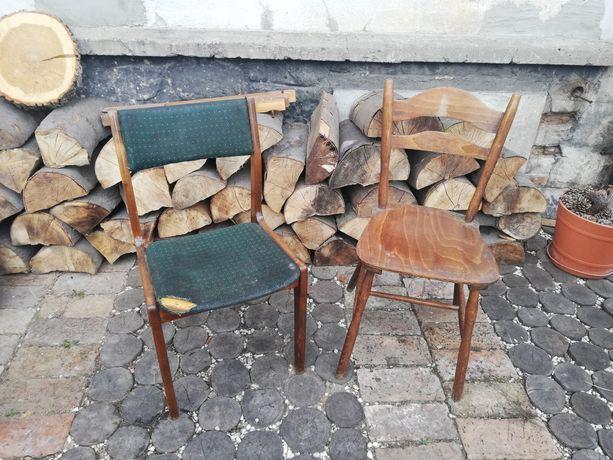 Krzesła tapicerowane drewniane vintage PRL