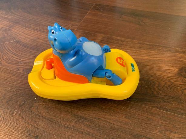 Tommy Hipopotam na rowerku wodnym, zabawka do kąpieli