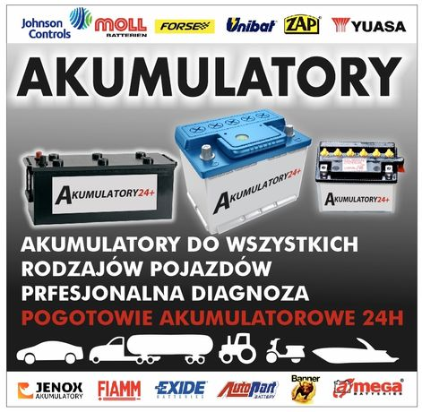Akumulator Pogotowie akumulatorowe 24H - serwis montaż dojazd