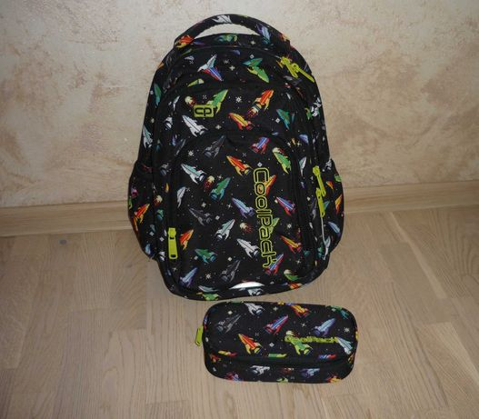 Plecak szkolny Coolpack Rakiety + Piórnik ZESTAW do szkoły