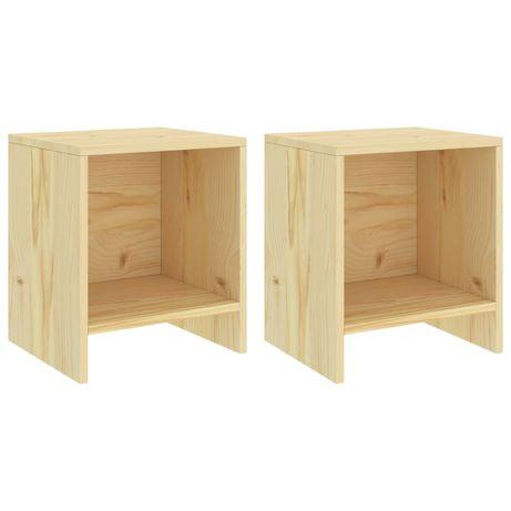 vidaXL Mesas de cabeceira 2 pcs 35x30x40 cm madeira pinho maciça clara 322239