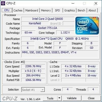 Płyta Asrock  G41M-GE3; Intel Core 2 Quad Q6600; 4 GB DDR3