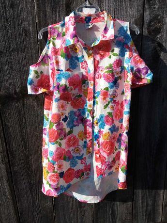 Piękna bluzeczka w kwiaty asos