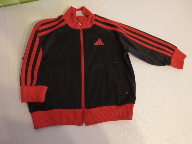 Adidas sportowa  bluza na suwak dla chłopca 92