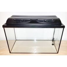 Аквариум прямоугольный с крышкой пластик, объем 140 литров