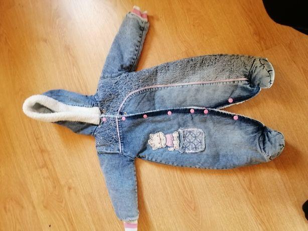 Новый теплый джинсовый комбинезон. Очень круто выглядит