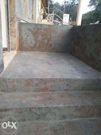 Escada em Ardósia Multicolor - Xisto Multicolor