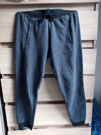 Spodnie szare siwe dresowe 34 XS