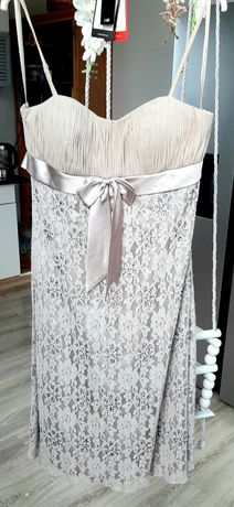 Sukienka jedwabna MONNINI r.40/42 wesele sylwester