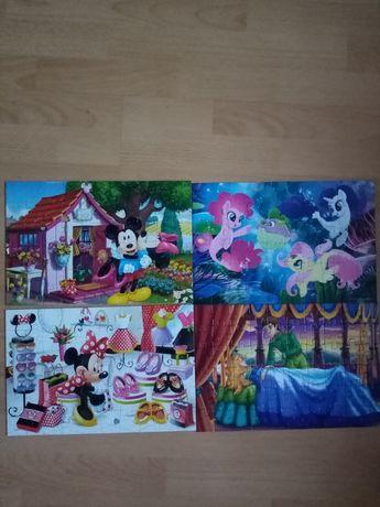 Puzzle, koniki Pony, myszka Mike