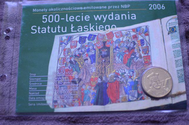 2zł Blister 500-lecie wydania Statutu Łaskiego