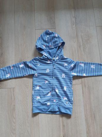 Bluza z kapturem na zamek Cool Club dla dziewczynki rozmiar 104 cm