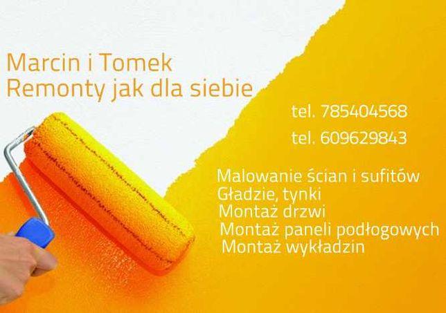 Usługi malarsko-remontowe malowanie, gładzie, tynki, wylewki,  itp