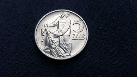 Moneta 5 zł aluminium piękna