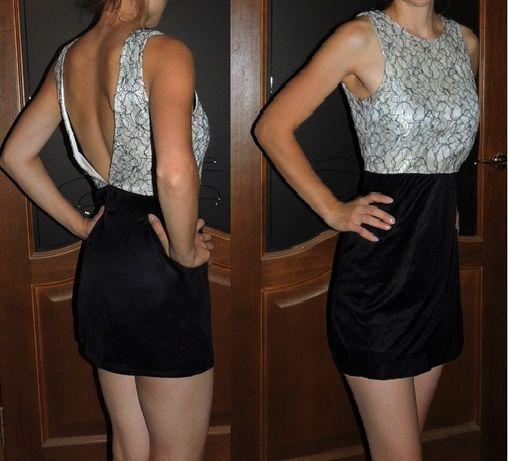 Блузка с кружевной спиной р.S платье вечернее zara рубашка