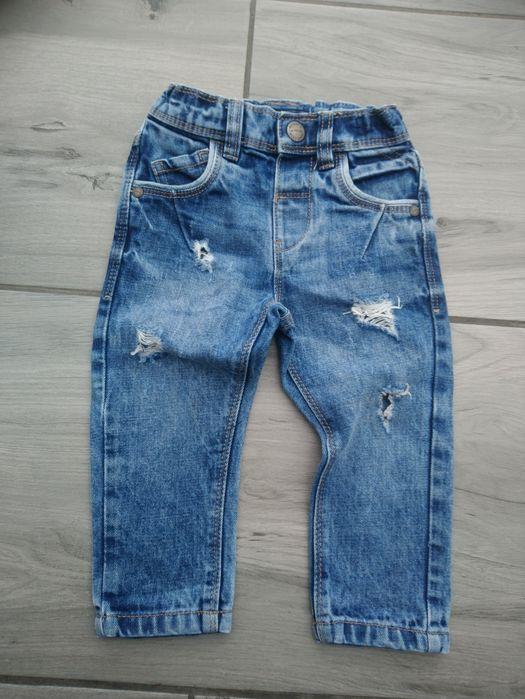 Spodnie jeansy rurki next 86 Łódź - image 1