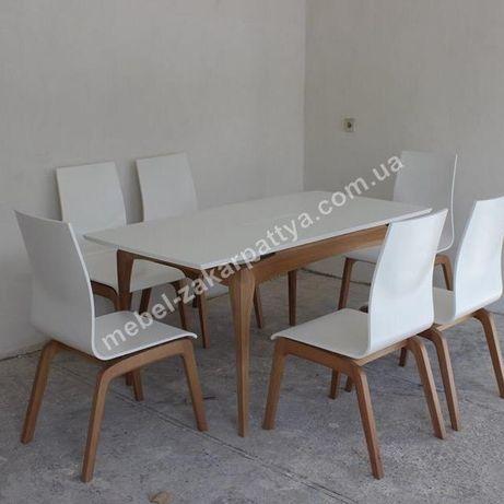 Стол кухонный раскладной. Комплект обеденный стол и стулья на кухню.