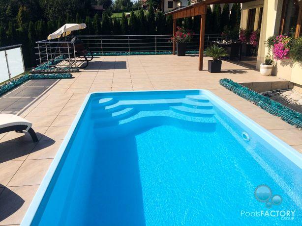 Basen ogrodowy kąpielowy z laminatu gotowy 6,20x3,20x1,55 PRODUCENT