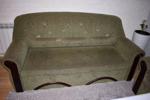 sofa 3 osobowa z funkcją spania + 2 fotele