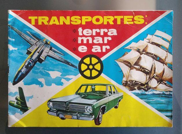 Caderneta Transportes Terra Mar e Ar da Agência Portuguesa de Revistas