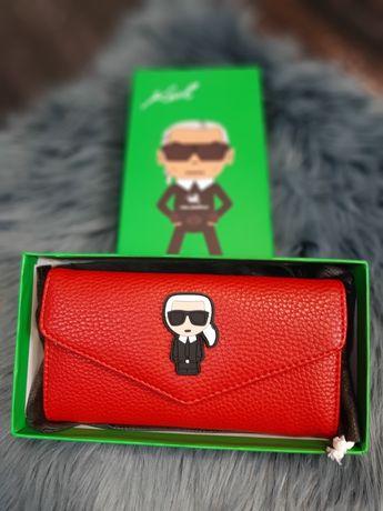 Zjawiskowy duży portfel Karl Lagerfeld PREMIUM