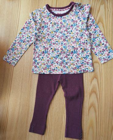 Komplet bluzka legginsy Tu 9-12, 12-18 miesiecy 74 newbie body, opaska