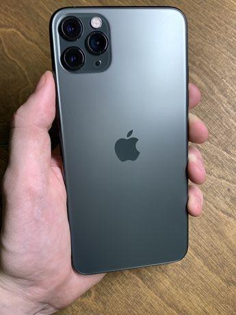 Магазин iphone 11 pro max 256 midnight green Neverlock Батарея 100%