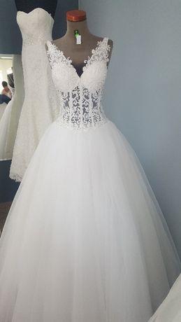Piękna suknia ślubna!! Stan idealny!!