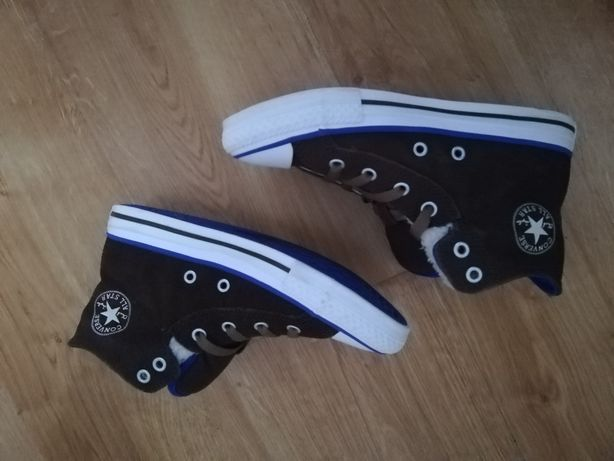 Zimowe buty trampki wysokie chłopięce Converse 32