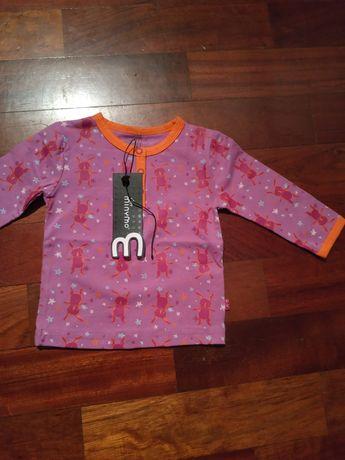 Bluzka niemowlęca długi rękaw duńskiej firmy Tiny MINYMO rozmiar 62